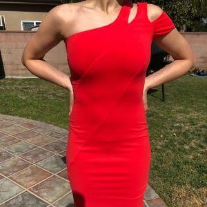 Red Bebe mini dress
